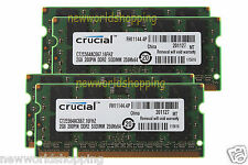 Crucial 8GB 4X 2GB PC2-5300 DDR2-667MHz 200pin Sodimm Laptop Notebook Memory RAM