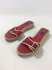Keds Womens Red Canvas Slip On Espadrille Slides Sandals US Sz 9 EU Sz 40