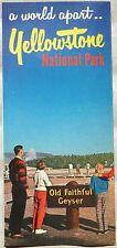 1960's Yellowstone National Park vintage brochure Old Faithful & bear cover b