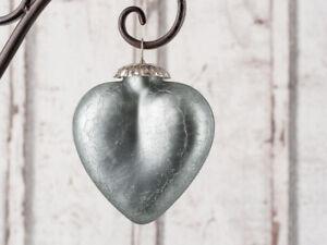 Hänger Herz Silver matt silber groß Deko Hochzeiten Weihnachten