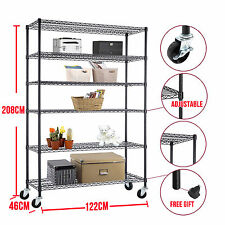 """48""""*82""""*18""""Heavy Duty Chrome 6 Tier Steel Wire Shelving Rack Shelf Adjustable"""