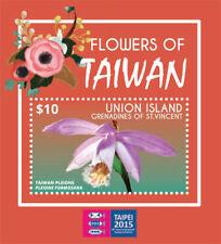 UNION ISLAND 2015- TAIPEI STAMP EXPO/ FLOWERS OF TAIWAN STAMP SOUVENIR SHEET MNH