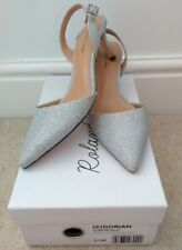 Roland Cartier Slingback Shoes Silver Glitter  Size 5 Evening Wear Wedding Party