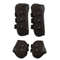 Adjustable Horse Riding Leg Guard Boots Tendon Front Hind Leg Wrap Cover