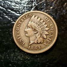 1864 Copper Nickel Indian Penny in VG/F Condition