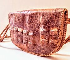 VINTAGE GENUINE ALLIGATOR Handbag BAG PURSE Snap Closure 5 x 8