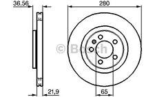 BOSCH Juego de 2 discos freno Antes 280mm ventilado SEAT 0 986 478 852