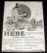 1919 OLD MAGAZINE PRINT AD, HEBE COMPOUND FOR COOKING-BAKING-COFFEE, ECONOMICAL!