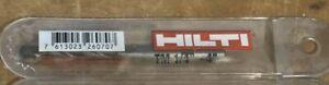 "(1) ONE NEW HILTI TM 1/4"" x 4"" Smooth Shank Carbide Hammer Drill Bit Masonry"