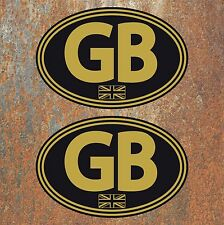 GB Union Jack Laminated Stickers 130mm Car Van Camper Scooter Vespa Vdub Decal