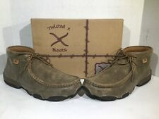 Twisted Boots Womens Size 9.5 Driving Mocs D Toe Brown Leather Shoes ZD-550
