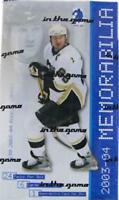 2003-04 Be A Player Memorabilia Hockey Cards 1-250 Includes Rookies and Update