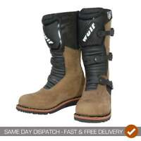 Wulfsport Adults Mens Motor Bike Motorcycle Trials Boots - Brown