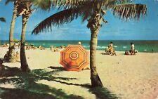 Postcard Beach Goers Miami Beach Florida