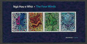 2020 NEW ZEALAND  SG: MS N/A - THE FOUR WINDS - UNMOUNTED MINT MINI SHEET