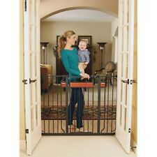 Baby Gate Walk Thru Extra Tall Toddler Pet Dog Stairs Safety Fence Extension Kit
