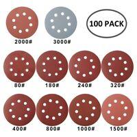 100 pièces disques de ponçage papier de verre grain 80 a 3000