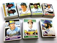 (3) 1979 Topps Baseball NEAR Complete Partial Sets 510/726 400/726 120/726 MINT
