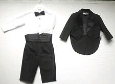 NEW Baby Boy 5PCS Tuxedo/Wedding/ Christening Tail Suit Page Boy size 6-9 months