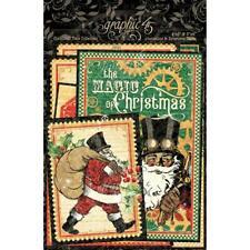 Graphic 45 Christmas Time Ephemera & Journaling Cards 32pc