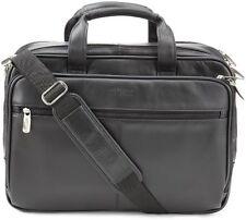 Kenneth Cole REACTION Leather Briefcase Messenger Bag Laptop Case Men Bags Mens