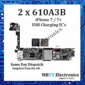 2 x 610A3B - iPhone 7 / 7+ / 7 Plus - USB CHARGING IC - (U4001) CHARGER REPAIR