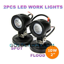 2x 10W Cree LED Work Lights Flood Spot Offroad Fog Driving Lights Motorcycle UTE