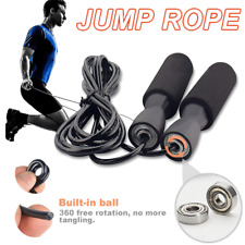 MMA Boxing Speed Cardio Gym Excercise Fitness Skipping Jump Rope PVC Crossfit