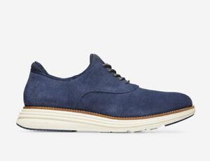 Men Cole Haan Øriginal Grand Ultra Plain Toe Oxford Suede Shoes Indigo C32067