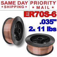 """ER70S-6 .035"""" (0.9 mm) Mild Steel MIG Welding Wire - 11 Lbs (2 Rolls)"""