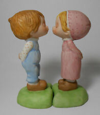 1979 Hallmark Kissing Betsey Clark Boy and Girl Porcelain Ceramic Figurines
