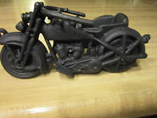 New Vintage Cast Iron Sidecar Motorcycle Toy