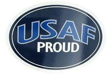 U.S. Air Force USAF Proud USA Military Oval Car Refrigerator Magnet