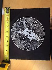 Goat Skull and Pentagram - occult black metal back patch by Mike Vivisector