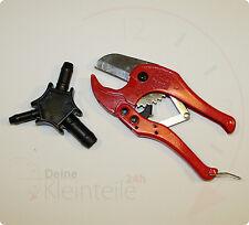 SET - Rohrschere f. Kunststoff Mehrschichtverbundrohr 42mm PEX Multi Kalibrierer