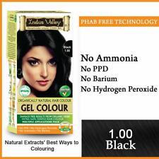 Indus Valley Natural Black Gel Hair Color No PPD No Ammonia Black 220 gm