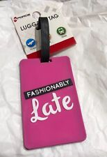 G-FORCE  FASHIONABLE LATE  PRINT PINK  ID Tag LUGGAGE Travel Accessory