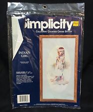 Simplicity ColorArt Counted Cross Stitch Kit 05548 Indian Girl Ellie Weakley JCA