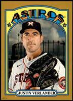 Justin Verlander 2021 Topps Heritage 5x7 Gold #247 /10 Astros