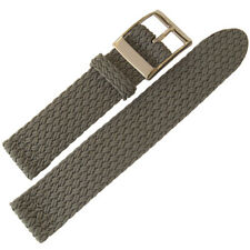 22mm Eulit Palma Pacific Grey Two-Pc Woven Perlon Nylon German Watch Band Strap