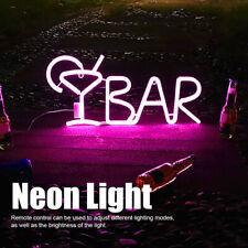 BAR Letters Shaped LED Neon Light Shop Signs Light Party Bar Home Decor