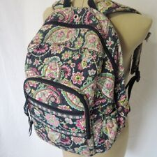 Vera Bradley Backpack Flowers Pink Green Cellphone Pocket Headphone Wire Hole