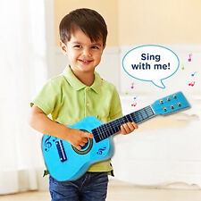 "23"" CHILDREN KIDS BLUE  GUITAR ACOUSTIC WOODEN MUSICAL INSTRUMENT CHILD TOY GIFT"