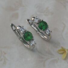 Elegant Gift Green Peridot Fashion Jewelry Gold Filled Huggie Earrings er1738