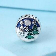 Perfect Gift Genuine Pandora S925 Xmas Snowy Wonderland Charm-796384ENMX