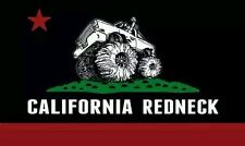 "California Redneck Official ""Black Flag Logo"" Bumper Sticker/Decal 3""H x 5""W"