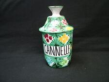 Six French studio art pottery spice herb storage jars Poivre Epices  Girofle etc