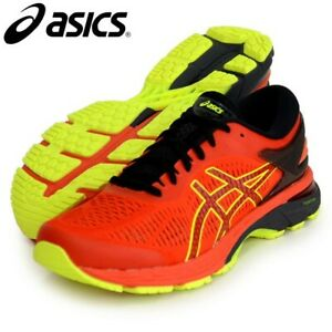 ASICS GEL-KAYANO 25 CHERRY TOMATO SAFETY YELLOW 1011A019-801 MEN'S RUNNING SHOES