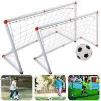 Childrens Kid's Junior Football Goal Soccer with Ball and Pump multiple choices