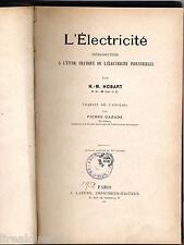 Introduction à l'étude pratique de l'électricité industrielle Hobart 1952